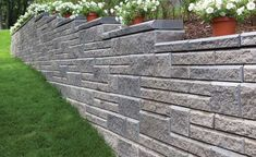 Retaining Wall AB Collection Ashlar Blend Pattern