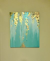 Original Modern Abstract Painting - MetallicTextured Gallery Wrap Canvas 20 x 24 x 1.5 Inches - Palette Knife Painting