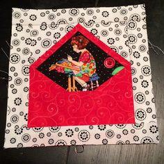 My first Envelope block #swakswap #maryengelbreit #envelopeblock