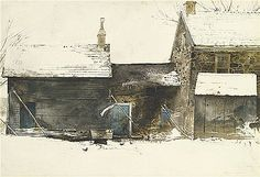 """Andrew Wyeth Title: WASH TUB Lot: 46 Watercolor/Paper Low Est.: $120,000 Created: 1963 Signed Lower Right High Est.: $180,000 Size: 16.50"""" x 24"""" (41.91cm x 60.96cm) Sales Price:** $392,500 Auction House: Sotheby's New York 11/29/2012"""