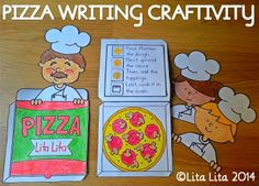 Pizza writing craftivity. Lots of different options.