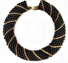 Free pattern for beaded necklace Katrina   Beads Magic  ~ Seed Bead Tutorials