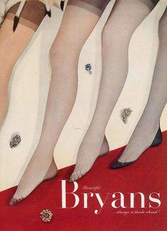A stylish selection of vintage stocking hues. #vintage #stockings #ad #fashion