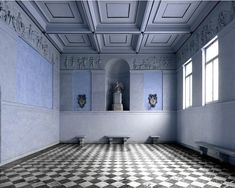 The Napoleonic Room at the Quirinale Palace. Photo by Massimo Listri, Classical Architecture, Sustainable Architecture, Art And Architecture, Palazzo, Old Abandoned Houses, Shared Rooms, Blue Rooms, Neoclassical, House Painting