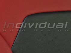 Detail:  LEATHER LOOK red + LEATHER LOOK black Red Leather, Detail, Collection, Black, Artificial Leather, Black People