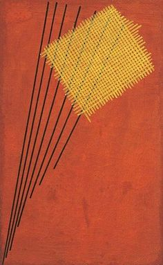 Construction no.951919. Alexander Rodchenko (1891-1956) was a Russian artist, sculptor, photographer and graphic designer. He was one of the founders of constructivism and Russian design; he was married to the artist Varvara Stepanova.  He utilized a compass and ruler in creating his paintings, with the goal of eliminating expressive brushwork.