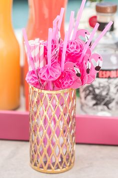 Every party needs flamingo straws!