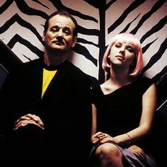 Bill Murray and Scarlett Johansson in Lost in Translation (2003), a film by Sofia Coppola.