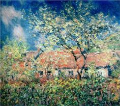 Springtime+at+Giverny+-+Claude+Monet