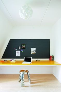 workspace - black: chalkboard paint with a magnetic background