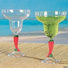 Plastic Chili Pepper Margarita Glass #margarita #fiesta #drinkware