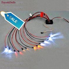 For RC Model Car Truck 1/10 LED Light Kit Brake + Headlight + Signal Fit RC Car truck 1/10th 2.4ghz PPM FM