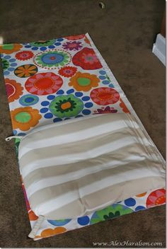 Do It Yourself Recover Glider Rocker like technique... just sew in zipper on bottoms to make removeable