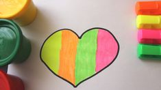 Learn drawing Colours Heart Drawing for Toddlers Preschoolers Learn Drawing, Learn To Draw, Play Doh, Toddler Preschool, Cool Toys, Children, Kids, Toddlers, Colours