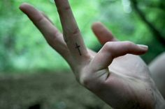 cross, finger tattoo, tattoo