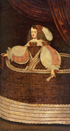Portrait of Margarita Teresa de Austria,Empress of Holy Roman Empire. 17th century (Spanish School) Casa Mora Fashion History, Fashion Art, Infanta Margarita, Hispanic Art, Spanish Woman, Holy Roman Empire, Spanish Fashion, Spain And Portugal, Face Art
