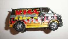 RARE VINTAGE HARD TO FIND KISS BAND 1999 1975 CHEVY CHEVROLET VAN USED