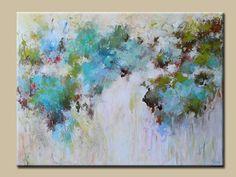 pintura abstracta, pintura de acrílico contemporáneo pintura abstracta grande ORIGINAL pintura en lona, azul Resumen por roble