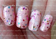 esmalte + glitter
