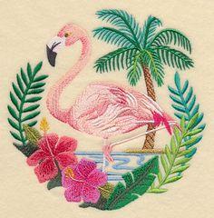 Flamingo Scene design (K9061) from www.Emblibrary.com