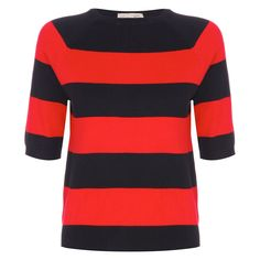 Denise Red Stripe Sweater | Vintage Style Knitwear - Lindy Bop