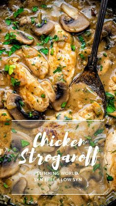 Everyone will fall in love with this Chicken Stroganoff – easy, quick and thoroughly yummy. No one will know that this is a Slimming World chicken recipe! world chicken recipes Chicken Stroganoff Slimming World Dinners, Slimming World Chicken Recipes, Slimming World Recipes Syn Free, Slimming World Diet, Slimming Eats, Best Chicken Recipes, Recipe Chicken, Slimming World Chicken Casserole, Simple Baked Chicken Recipes