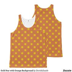 Gold Star with Orange Background Unisex Tank This design is available on many products! Hit the 'available on' tab near the product description to see them all! Thanks for looking!     @zazzle #art #star #pattern #shop #chic #modern #style #circle #round #fun #neat #cool #buy #sale #shopping #men #women #sweet #awesome #look #accent #fashion #clothes #apparel #earrings #headband #sunglasses #ties #belts #fingernail #black #blue #purple #orange #grey #gold