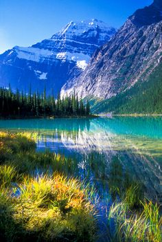 NPC1596 - Mount Edith Cavell and Cavell Lake.  ©Jerry Mercier | by jerry mercier