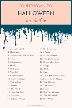 Countdown to Halloween on Netflix, plus top 15 horror movies on Hulu - The Artful Ambler . #netflixhorror #huluhorror #scarymovies #besthorrormovies #halloweenmovies #countdowntohalloween #halloweenmovieschedule
