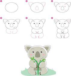 How draw Koala