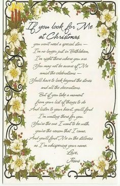 Christmas Poems About Jesus Christmas Poems, Meaning Of Christmas, All Things Christmas, Christmas Holidays, Christmas Crafts, Merry Christmas, Christmas Jesus, Christmas Letters, Christmas Program