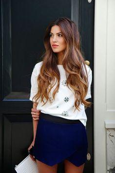 Subtle ombré hair. Hair style. Hair colour