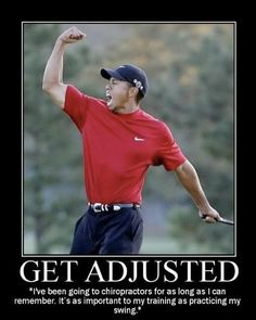 Get to your peak potential with chiropractic care! Whether or not you support Tiger Woods, there is no question regarding his golf ability. If the best in the sport supports Chiropractic care, why don't you? Chiropractic Therapy, Chiropractic Wellness, Relieve Back Pain, Health And Fitness Tips, Neck Pain, Tiger Woods, Nervous System, Happy Life, Decir No