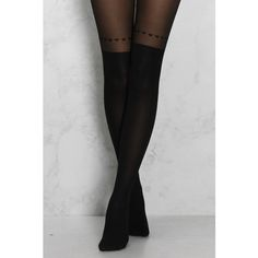 Rare Black Over The Knee Heart Print Tights ($10) ❤ liked on Polyvore featuring intimates, hosiery, tights, rare london, heart pattern tights, heart print tights, over the knee hosiery and over-the-knee tights