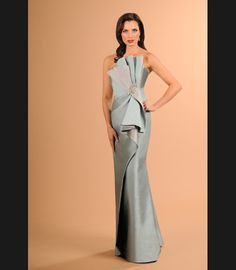 Daymor Couture 613 Draped Mother of the Bride Dress