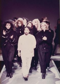 Yohji Yamamoto for his first fashion show, 1981