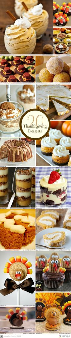 Thanksgiving desserts Ideas