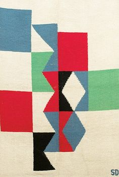 ¤ Weaving by Sonia Delaunay, France.