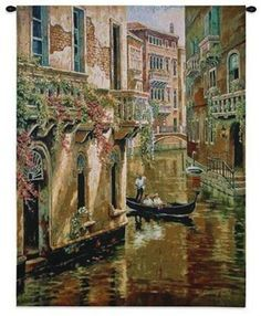 Afternoon Chat Venetian Wall Tapestry