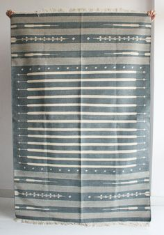 Handmade Rug in Grey 4 x 6 Feet by gypsya on Etsy