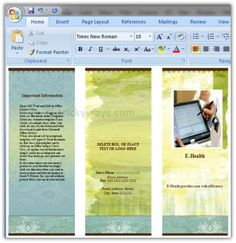 create brochure in word 2007 or 2010 make brochure microsoft word tri fold brochure templatefree