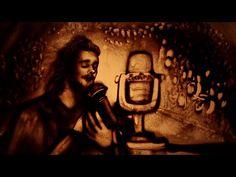 "Salvador Sobral ""Amar Pelos Dois"" sand art tribute (winner of Eurovision. Eurovision 2017, Salvador, Video Artist, Red Books, Sand Art, Beautiful Songs, Singer, Animation, Paintings"