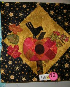 Fall Birdhouse Block Challenge/ 1st place Linda Duplantis