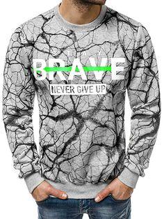 613db833195 OZONEE Herren Sweatshirt Pullover Motiv Modern Pulli Täglichen Streetwear