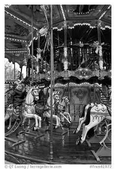Old carousel. Avignon, Provence, France