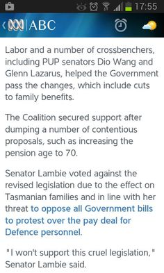 Lambie splits from PUP to vote against social services bill http://ab.co/11hrCVA #auspol @AustralianLabor ???????