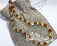Lucky amber teething necklace