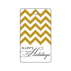 Holiday Gold Chevron Gift Tag | MyRecipes.com
