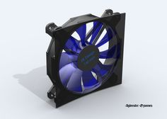 140mm computer case fan design https://grabcad.com/library/sr-design-140mm-fan-1