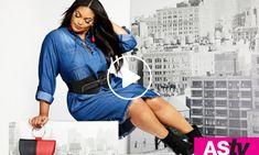 Shop Ashley Stewart for plus size LA LA Anthony x Ashley Stewart clothing, plus size LA LA Anthony activewear + logo shorts + matching 2 piece set + mesh. Plus Size Peplum, Plus Size Tank Tops, Plus Size Dresses, Plus Size Outfits, Strapless Tops, African Traditional Dresses, Fashion Brand, Womens Fashion, Drape Cardigan